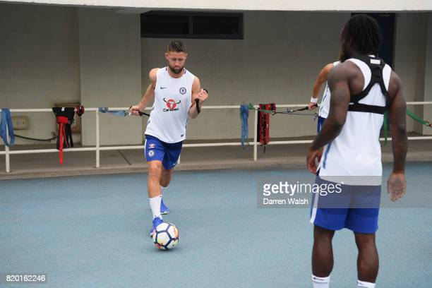 Gary Cahill of Chelsea during a training session at the AOTI Stadium on July 20 2017 in Beijing China