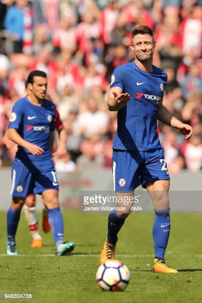 Gary Cahill of Chelsea during the Premier League match between Southampton and Chelsea at St Mary's Stadium on April 14 2018 in Southampton England