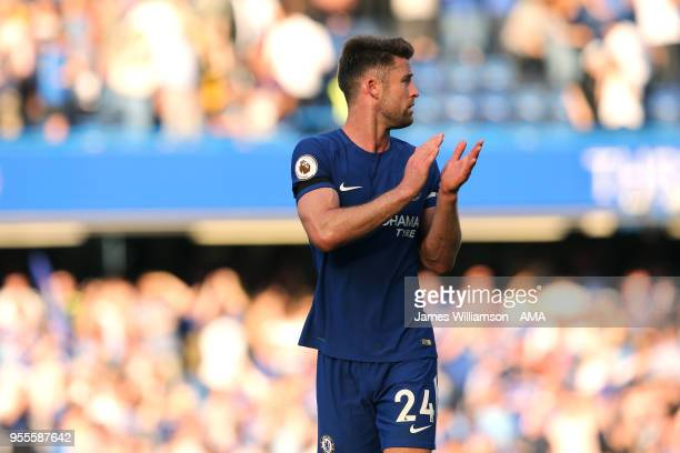 Gary Cahill of Chelsea during the Premier League match between Chelsea and Liverpool at Stamford Bridge on May 6 2018 in London England