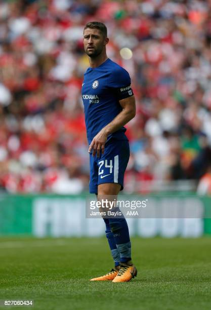 Gary Cahill of Chelsea during the The FA Community Shield between Chelsea and Arsenal at Wembley Stadium on August 6 2017 in London England