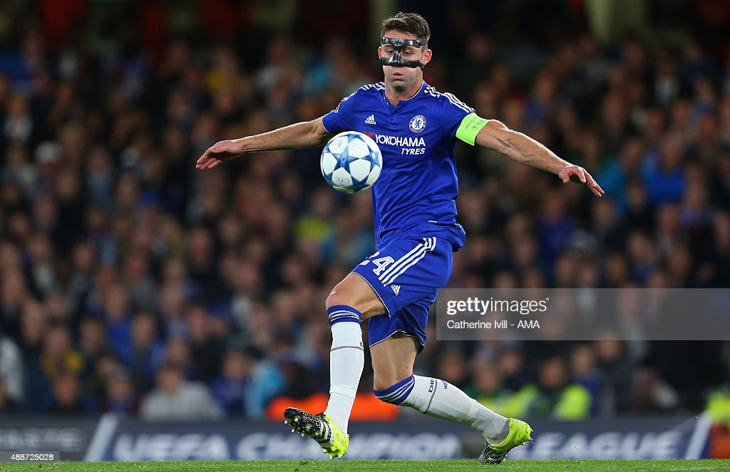 Gary Cahill of Chelsea during the UEFA Champions League group G match between Chelsea and Maccabi Tel-Aviv at Stamford Bridge on September 16, 2015 in London, United Kingdom.