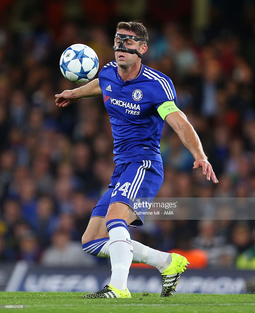 Gary Cahill of Chelsea during the UEFA Champions League match between Chelsea and Maccabi Tel-Aviv at Stamford Bridge on September 16, 2015 in London, United Kingdom.