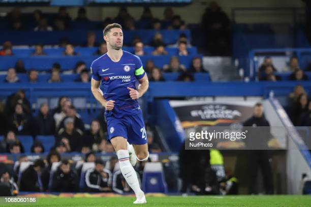 Gary Cahill of Chelsea during the UEFA Europa League Group L match between Chelsea and PAOK at Stamford Bridge on November 29 2018 in London United...