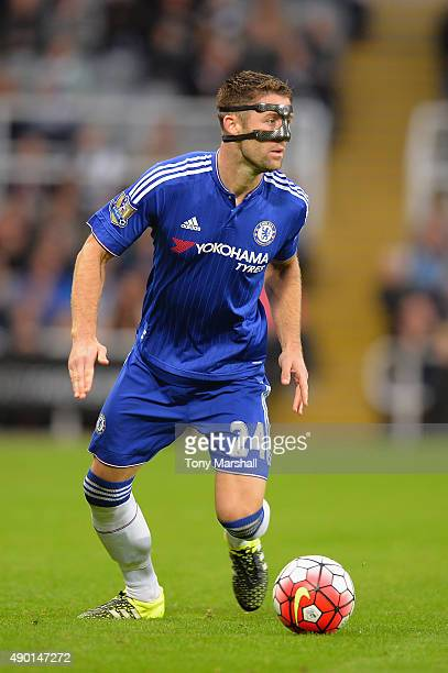 Gary Cahill of Chelsea in action during the Barclays Premier League match between Newcastle United and Chelsea at St James' Park on September 26 2015...