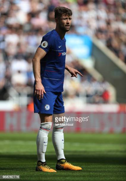 Gary Cahill of Chelsea is seen during the Premier League match between Newcastle United and Chelsea at St James Park on May 13 2018 in Newcastle upon...
