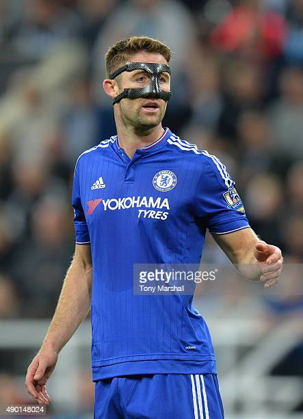 Gary Cahill of Chelsea looks on during the Barclays Premier League match between Newcastle United and Chelsea at St James' Park on September 26 2015...