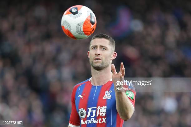 Gary Cahill of Crystal Palace during the Premier League match between Crystal Palace and Watford at Selhurst Park London on Saturday 7th March 2020