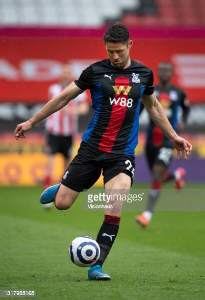 Gary Cahill of Crystal Palace in action during the Premier League match between Sheffield United and Crystal Palace at Bramall Lane on May 8, 2021 in...