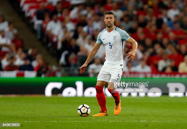 Gary Cahill of England during the FIFA 2018 World Cup Qualifier between England and Slovakia at Wembley Stadium on September 4 2017 in London England