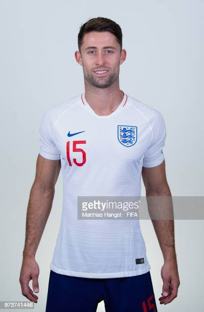 Gary Cahill of England poses for a portrait during the official FIFA World Cup 2018 portrait session at on June 13 2018 in Saint Petersburg Russia