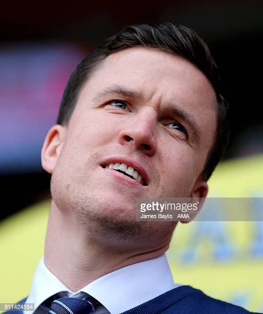 Gary Caldwell the head coach / manager of Wigan Athletic during the Sky Bet League One match between Walsall and Wigan Athletic at Bescot Stadium on...
