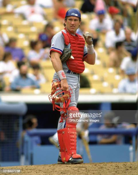 Gary Carter of the Montreal Expos in the field during a game from his 1992 season with the Montreal Expos. Gary Carter played for 19 years with 4...