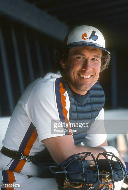 Gary Carter of the Montreal Expos smiling in this portrait during an Major League Baseball spring training game at West Palm Beach Municipal Stadium...