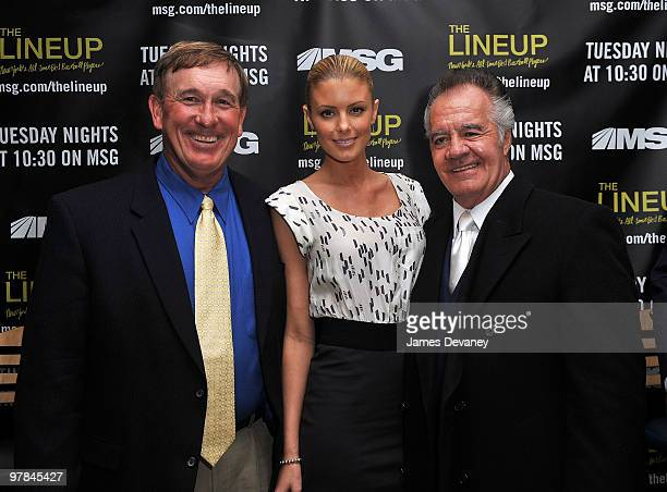 """Gary Carter, Paige Butcher and Tony Sirico attend launch party for the MSG Network premiere of """"The Lineup: New York�s All-Time Best Baseball..."""