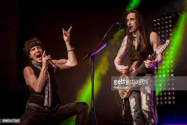 Gary Cherone and Nuno Bettencourt of Extreme perform live on stage at the O2 Brixton Academy on December 20, 2017 in London, England.
