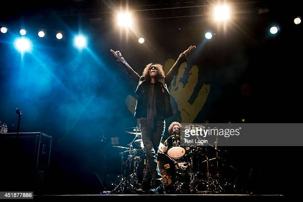 Gary Cherone of Extreme performs on stage at The Forum on July 8, 2014 in London, United Kingdom.