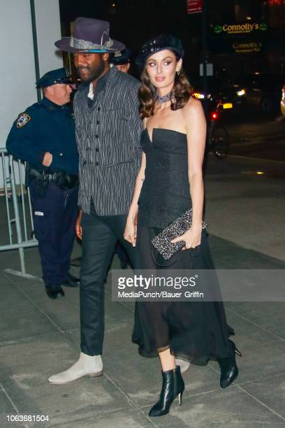 Gary Clark Jr and Nicole Trunfio are seen at The Museum of Modern Art Film Benefit Tribute to Martin Scorsese on November 19 2018 in New York City
