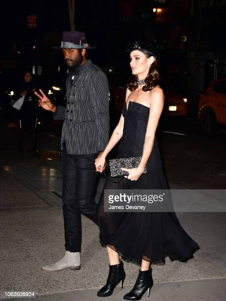 Gary Clark Jr and Nicole Trunfio arrive to the 2018 Museum of Modern Art Film Benefit A Tribute To Martin Scorsese at Museum of Modern Art on...