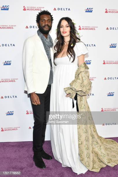 Gary Clark Jr and Nicole Trunfio attend MusiCares Person of the Year honoring Aerosmith at West Hall at Los Angeles Convention Center on January 24...