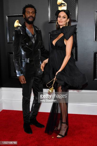Gary Clark Jr and Nicole Trunfio attend the 62nd Annual GRAMMY Awards at Staples Center on January 26 2020 in Los Angeles California
