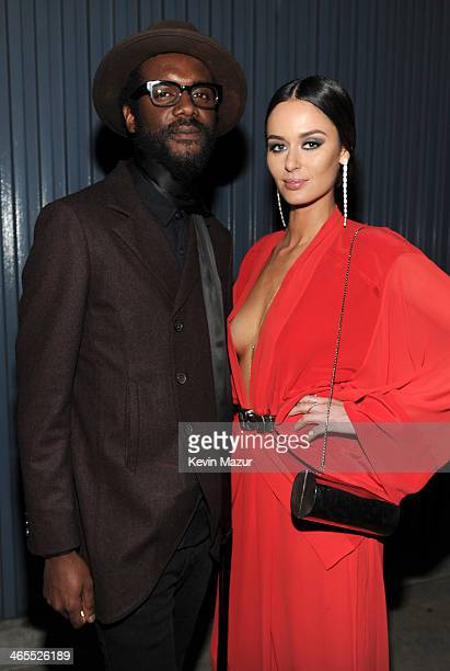 Gary Clark Jr and Nicole Trunfio attend The Night That Changed America A GRAMMY Salute To The Beatles at Los Angeles Convention Center on January 27...