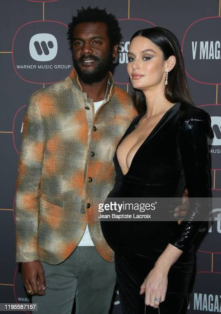Gary Clark Jr and Nicole Trunfio attend the Warner Music Group PreGrammy Party at Hollywood Athletic Club on January 23 2020 in Hollywood California
