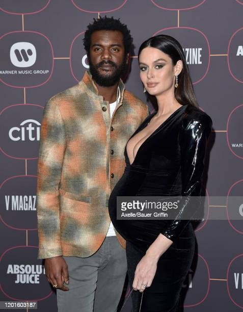 Gary Clark Jr. And Nicole Trunfio attend Warner Music Group Pre-Grammy Party 2020 at Hollywood Athletic Club on January 23, 2020 in Hollywood,...