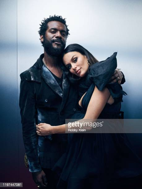 Gary Clark Jr and Nicole Trunfio pose for a portrait during the 62nd Annual GRAMMY Awards on January 26 2020 in Los Angeles California