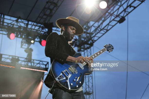 Gary Clark Jr performs at Afropunk Fest at Commodore Barry Park on August 27 2017 in the Brooklyn borough of New York City