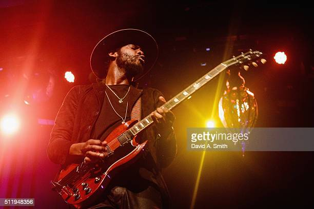 Gary Clark Jr performs at Iron City on February 23 2016 in Birmingham Alabama