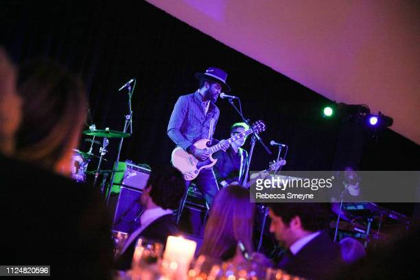 Gary Clark Jr performs at the Museum of Modern Art Film Benefit Presented by Chanel A Tribute to Martin Scorsese at the Museum of Modern Art on...