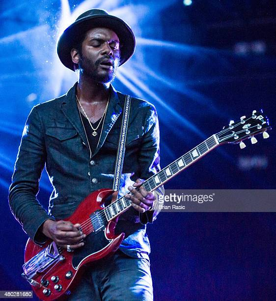 Gary Clark Jr performs at the Somerset House Summer Series on July 10 2015 in London England