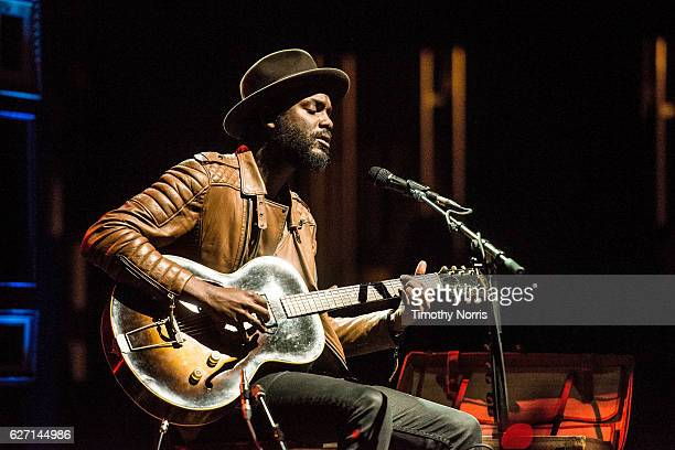 Gary Clark Jr performs at The Theatre at Ace Hotel on December 1 2016 in Los Angeles California