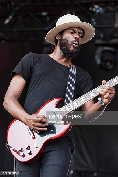 Gary Clark Jr performs at Waterfront Park on July 17 2016 in Louisville Kentucky