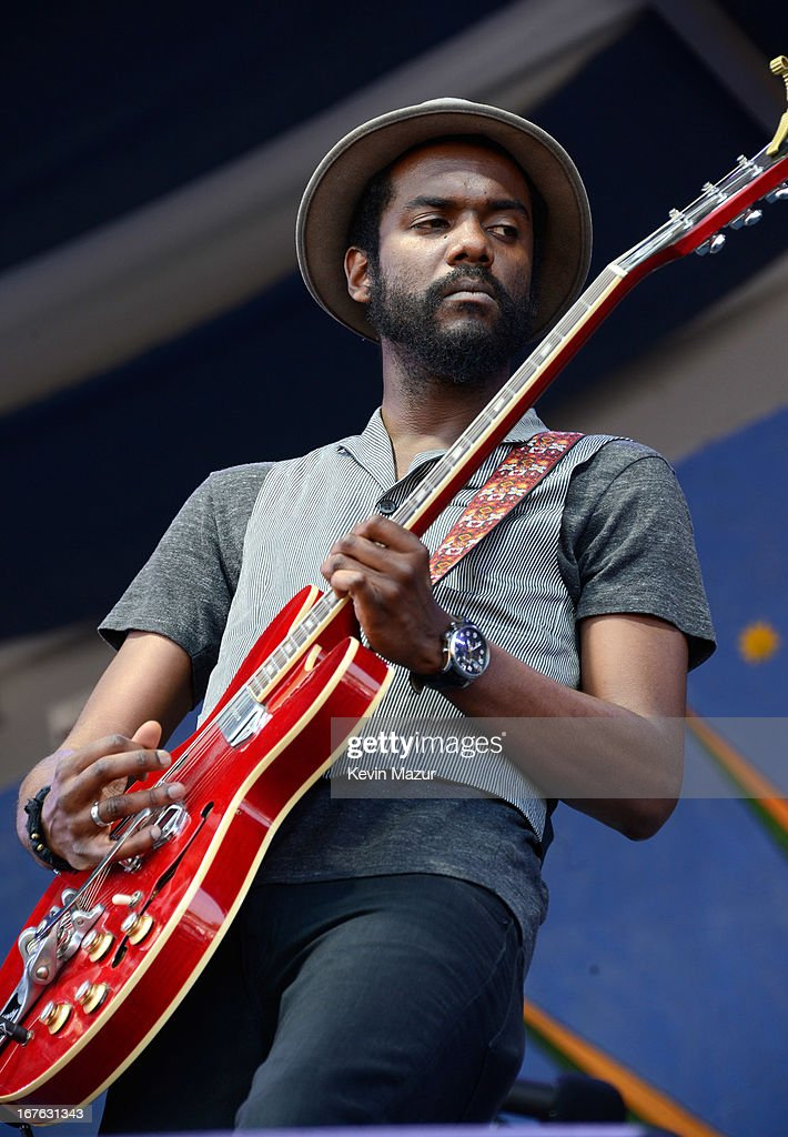 Gary Clark Jr performs during the 2013 New Orleans Jazz & Heritage Music Festival at Fair Grounds Race Course on April 26, 2013 in New Orleans, Louisiana.