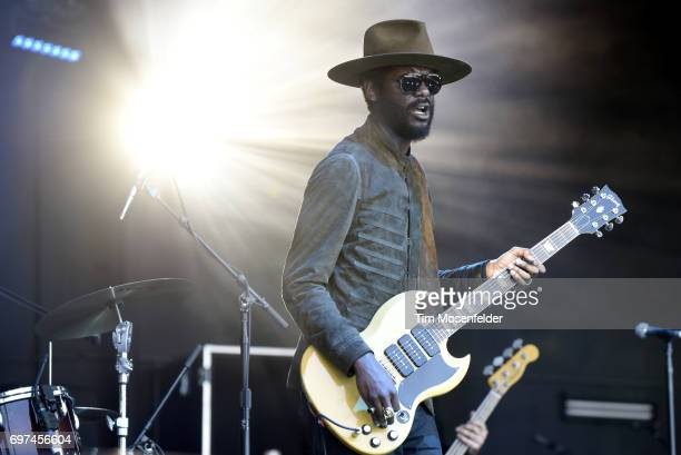 Gary Clark Jr performs during the Monterey International Pop Festival 2017 at Monterey County Fairgrounds on June 18 2017 in Monterey California