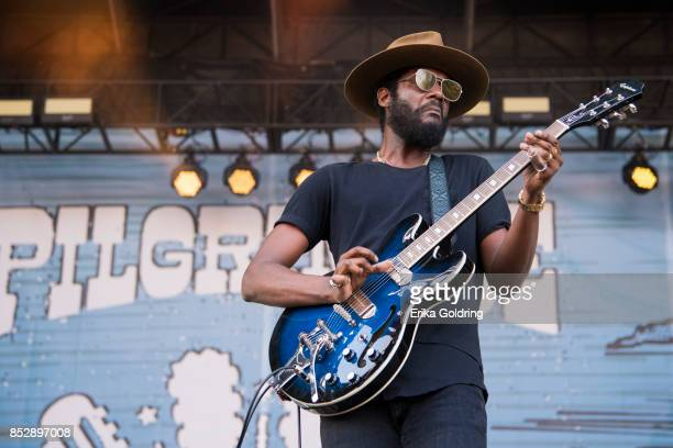 Gary Clark Jr performs during the Pilgrimage Music Cultural Festival 2017 on September 23 2017 in Franklin Tennessee