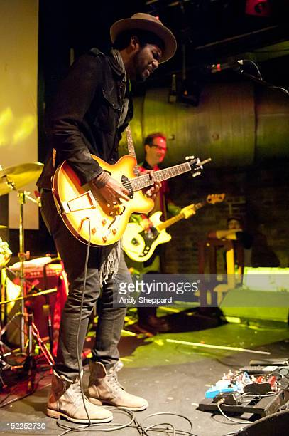 Gary Clark Jr performs on stage at Cargo on September 17 2012 in London United Kingdom