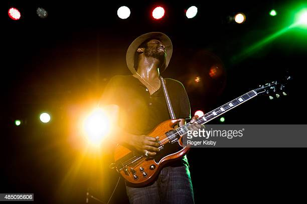 Gary Clark Jr performs onstage at Afropunk Fest at Commodore Barry Park on August 23 2015 in Brooklyn New York