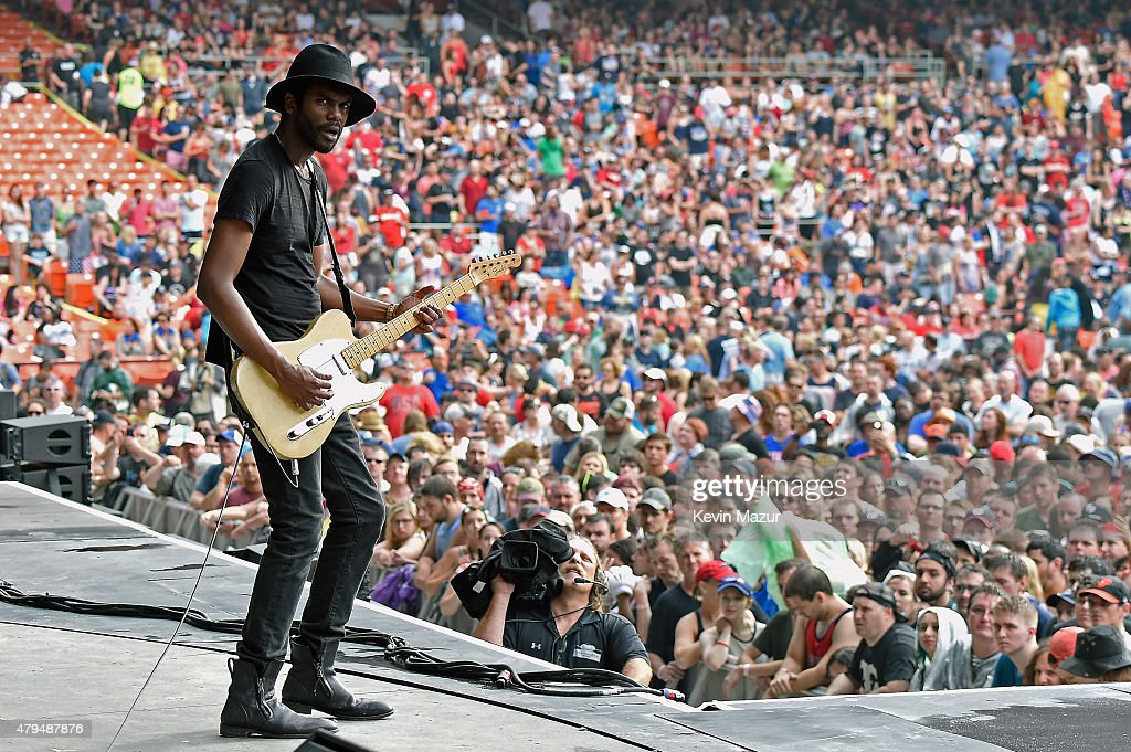 Gary Clark Jr. performs onstage during the Foo Fighters 20th Anniversary Blowout at RFK Stadium on July 4, 2015 in Washington, DC.