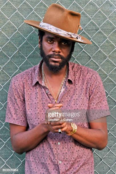 Gary Clark Jr poses backstage during the inaugural Bourbon Beyond Festival at Champions Park on September 24 2017 in Louisville Kentucky