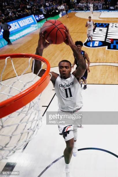 Gary Clark of the Cincinnati Bearcats dunks the ball against the Georgia State Panthers during the game in the first round of the 2018 NCAA Men's...