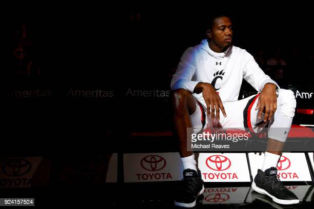 Gary Clark of the Cincinnati Bearcats waits to take the court for pregame introductions prior to the game against the Tulsa Golden Hurricane at BB&T...