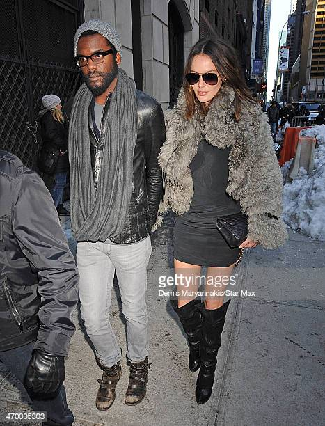 Gary Clarke Jr and Nicole Trunfio are seen on February 17 2014 in New York City