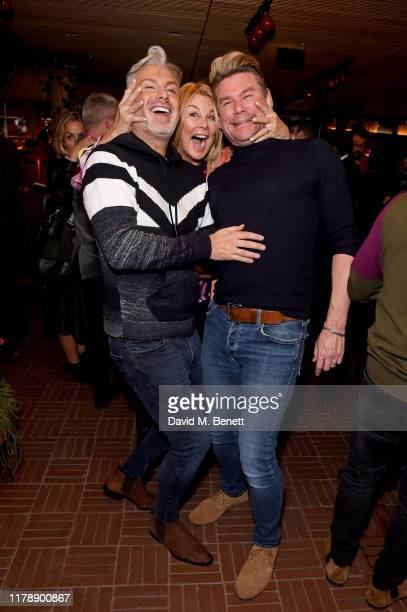 Gary Cockerill Jilly Johnson and Phil Turner attend the launch of Jo Wood's new book Stoned Photographs Treasures From Life With The Rolling Stones...