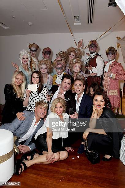 Gary Cockerill Kat Shoob Brix SmithStart Samantha Barks and guests with The saloncollect at the VIP launch of Baileys Chocolat LuxeÕs immersive...