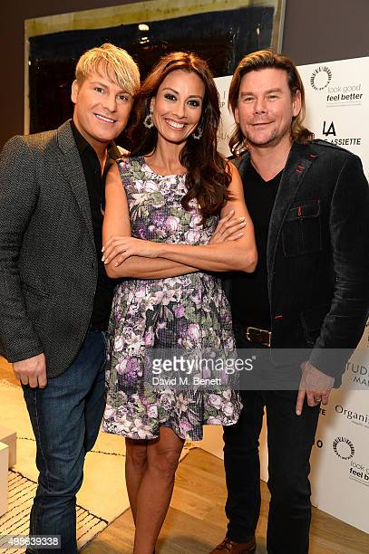 Gary Cockerill Melanie Sykes and Phillip Turner attend a champagne reception for 'Look Good Feel Better' supporting women with cancer at the Baxter...