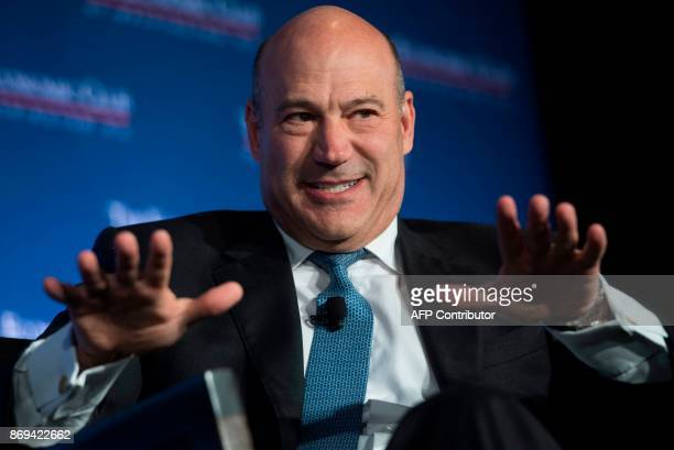 Gary Cohn Director of the National Economic Council speaks about tax reform to the Economic Club of Washington in Washington DC November 2 2017 / AFP...