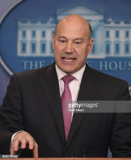 Gary Cohn White House Economic Advisor briefs reporters on President Donald Trump's upcoming trip to the World Economic Forum later this week in...