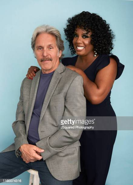 Gary Cole and Christina Anthony of ABC's 'Mixed-ish' pose for a portrait during the 2019 Summer TCA Portrait Studio at The Beverly Hilton Hotel on...